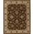 Classic oriental brown/ivory wool area rug, 'Earth Orient' - Classic Oriental Brown/Ivory Wool Area Rug thumbail