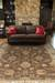 Classic oriental brown/ivory wool area rug, 'Earth Orient' - Classic Oriental Brown/Ivory Wool Area Rug (image 2d) thumbail