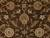 Classic oriental brown/ivory wool area rug, 'Earth Orient' - Classic Oriental Brown/Ivory Wool Area Rug (image 2e) thumbail