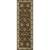 Classic oriental brown/ivory wool area rug, 'Earth Orient' - Classic Oriental Brown/Ivory Wool Area Rug (image 2f) thumbail