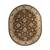 Classic oriental brown/ivory wool area rug, 'Earth Orient' - Classic Oriental Brown/Ivory Wool Area Rug (image 2g) thumbail