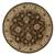 Classic oriental brown/ivory wool area rug, 'Earth Orient' - Classic Oriental Brown/Ivory Wool Area Rug (image 2h) thumbail