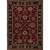 Classic oriental red/black wool area rug, 'Crimson Orient' - Classic Oriental Red/Black Wool Area Rug thumbail