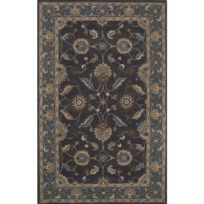 Classic oriental blue wool area rug, Midnight Orient