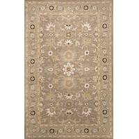 Classic oriental gray/blue wool area rug, 'Dust Madrone' - Classic Oriental Gray/Blue Wool Area Rug