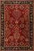 Classic arts and crafts red/black wool area rug, 'Rosewood Spires' - Classic Arts And Crafts Red/Black Wool Area Rug thumbail