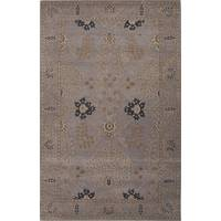 Classic arts and crafts gray wool area rug, 'Indigo Fade' - Classic Arts And Crafts Gray Wool Area Rug
