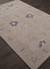 Classic arts and crafts grey wool area rug, 'Indigo Fade' - Classic Arts And Crafts Grey Wool Area Rug (image 2c) thumbail