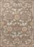 Classic arts and crafts taupe/blue wool area rug, 'Bowan' - Classic Arts And Crafts Taupe/Blue Wool Area Rug thumbail