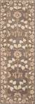 Classic arts and crafts taupe/blue wool area rug, 'Bowan' - Classic Arts And Crafts Taupe/Blue Wool Area Rug (image 2f) thumbail