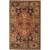 Classic oriental terracotta/charcoal wool area rug, 'Joan' - Classic Oriental Terracotta/Charcoal Wool Area Rug thumbail
