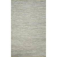 Flat-weave solid gray cotton area rug, 'Slate Heather' - Flat-Weave Solid Gray Cotton Area Rug
