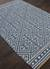 Flat-weave tribal blue/ivory wool area rug, 'Calli' - Flat-Weave Tribal Blue/Ivory Wool Area Rug (image 2c) thumbail