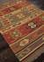 Flat-weave tribal red/yellow jute area rug, 'Mayem' - Flat-Weave Tribal Red/Yellow Jute Area Rug (image 2c) thumbail