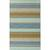 Flat-weave stripe blue/taupe wool area rug, 'Dara' - Flat-Weave Stripe Blue/Taupe Wool Area Rug thumbail
