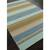 Flat-weave stripe blue/taupe wool area rug, 'Dara' - Flat-Weave Stripe Blue/Taupe Wool Area Rug (image 2c) thumbail