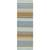 Flat-weave stripe blue/taupe wool area rug, 'Dara' - Flat-Weave Stripe Blue/Taupe Wool Area Rug (image 2f) thumbail