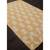 Flat-weave tribal yellow/ivory cotton area rug, 'Golden Mirage' - Flat-Weave Tribal Yellow/Ivory Cotton Area Rug (image 2c) thumbail