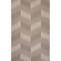 Flat-weave tribal gray/black wool area rug, 'Sand Zigzag' - Flat-Weave Tribal Gray/Black Wool Area Rug