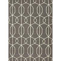 Flat-weave geometric gray/ivory wool area rug, 'Pewter Camina' - Flat-Weave Geometric Gray/Ivory Wool Area Rug