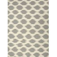 Flat-weave tribal ivory/gray wool area rug, 'Samil' - Flat-Weave Tribal Ivory/Gray Wool Area Rug