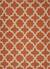 Flat-weave geometric orange/ivory wool area rug, 'Tangerine Shiloh' - Flat-Weave Geometric Orange/Ivory Wool Area Rug thumbail