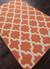 Flat-weave geometric orange/ivory wool area rug, 'Tangerine Shiloh' - Flat-Weave Geometric Orange/Ivory Wool Area Rug (image 2c) thumbail