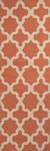 Flat-weave geometric orange/ivory wool area rug, 'Tangerine Shiloh' - Flat-Weave Geometric Orange/Ivory Wool Area Rug (image 2f) thumbail