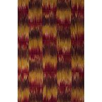 Flat-weave abstract red wool area rug, 'Fire' - Flat-Weave Abstract Red Wool Area Rug