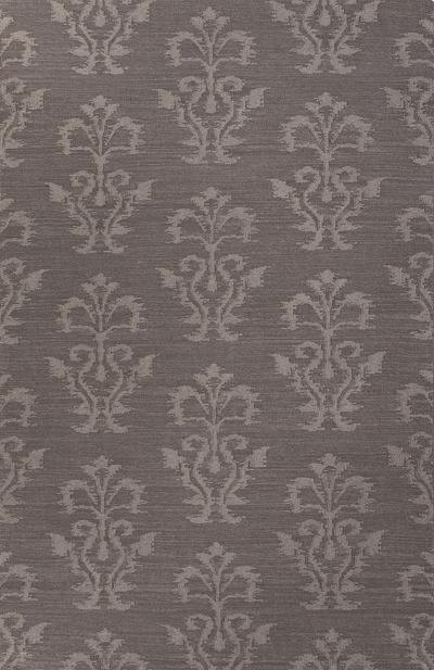 Flat-Weave Tribal Gray Wool Area Rug