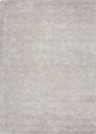 Modern tone-on-tone blue/gray wool blend area rug, 'Davin' - Modern Tone-on-tone Blue/Gray Wool Blend Area Rug