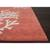 Modern coastal orange/ivory wool area rug, 'Coral Reef' - Modern Coastal Orange/Ivory Wool Area Rug (image 2b) thumbail