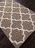 Modern geometric brown/ivory wool area rug, 'Vogue in Walnut' - Modern Geometric Brown/Ivory Wool Area Rug (image 2c) thumbail