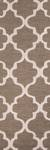 Modern geometric brown/ivory wool area rug, 'Vogue in Walnut' - Modern Geometric Brown/Ivory Wool Area Rug (image 2f) thumbail