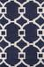 Modern geometric blue/ivory wool blend area rug, 'Regal' - Modern Geometric Blue/Ivory Wool Blend Area Rug thumbail