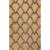 Modern geometric yellow/gold wool area rug, 'Golden Plumage' - Modern Geometric Yellow/Gold Wool Area Rug thumbail
