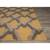 Modern geometric yellow/gold wool area rug, 'Golden Plumage' - Modern Geometric Yellow/Gold Wool Area Rug (image 2b) thumbail