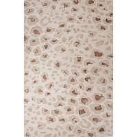 Modern animal print brown wool and viscose area rug, 'Shadow Leopard' - Modern Animal Print Brown Wool and Viscose Area Rug