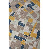 Modern geometric blue/multi wool area rug, 'Sky View' - Modern Geometric Blue/Multi Wool Area Rug