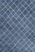 Modern geometric blue/ivory wool area rug, 'Harley in Blue' - Modern Geometric Blue/Ivory Wool Area Rug thumbail