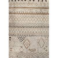 Modern Moroccan wool area rug, 'Elra' - Modern Moroccan Ivory/Taupe Wool Area Rug