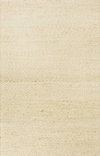 Jute and cotton area rug, 'Mindry' - Natural/Beige Rug Hand Woven in Jute and Recycled Cotton