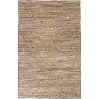 Jute blend area rug, 'Bizet' - Natural Jute and Rayon Hand Loomed Area Rug