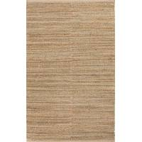 Jute and rayon area rug, 'Dulcet' - Naturals Brown Cotton-Backed Jute and Rayon Area Rug