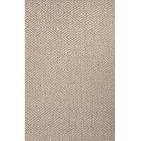 Sisal area rug, 'Loren' - 100% Sisal Geometric Taupe/Tan Area Rug Hand Woven in India