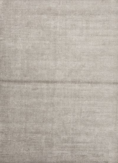 Wool and rayon blend chenille area rug, 'Ribbed Cloud' - Handloomed Solid Grey Wool Rayon Chenille Area Rug India