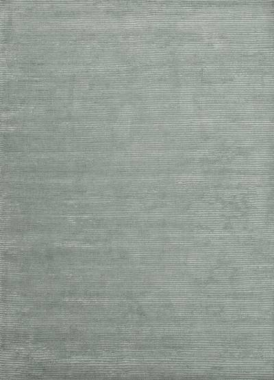 Wool and rayon chenille blend area rug, 'Ribbed Seafoam' - Hand Woven Solid Seafoam Wool Rayon Chenille Area Rug