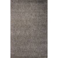 Wool and rayon area rug, 'Mayim' - Hand Woven Wool Rayon Chenille Area Rug in Solid Taupe