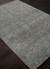 Wool and rayon chenille blend area rug, 'Carres' - Hand Woven Wool Rayon Chenille Area Rug in Solid Blue/Gray (image 2c) thumbail