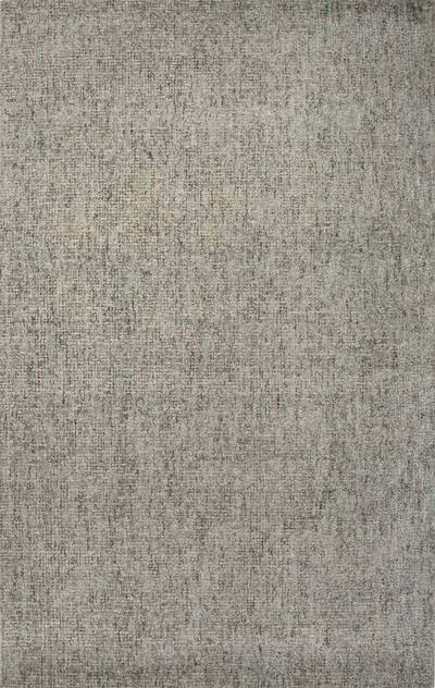 Wool and rayon chenille blend area rug, 'Prenly' - Hand Woven Wool Rayon Chenille Area Rug in Solid Blue/Taupe